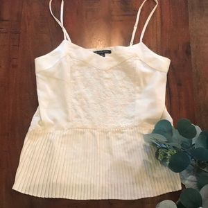 American Eagle Top with Pleated Peplum